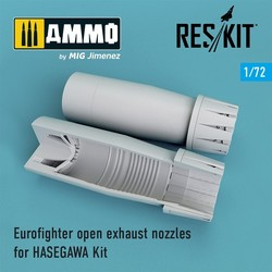 Eurofighter open exhaust nozzles for HASEGAWA Kit - Scale 1/72 - Reskit - RSU72-0106