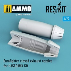 Eurofighter closed exhaust nozzles for HASEGAWA Kit - Scale 1/72 - Reskit - RSU72-0105