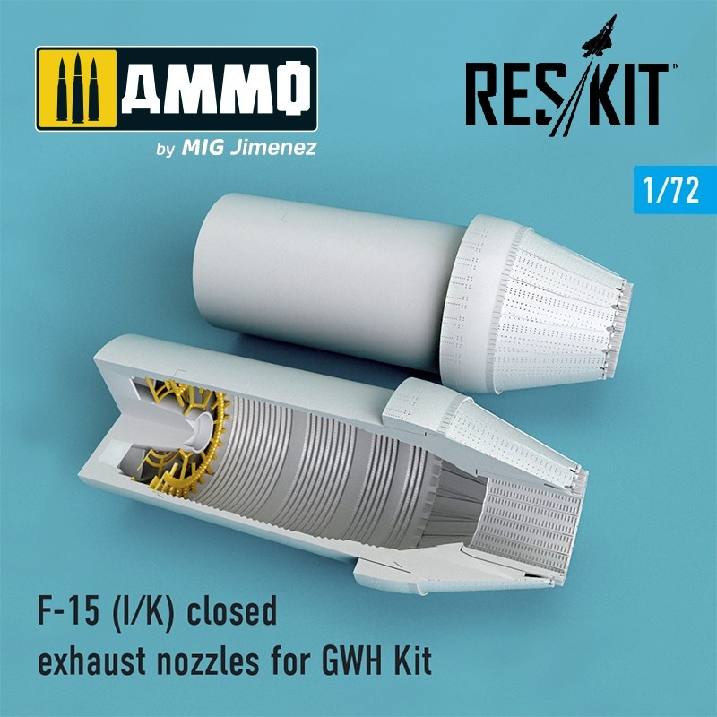 Reskit F-15 I/K closed exhaust nozzles for GWH Kit - Scale 1/72 - Reskit - RSU72-0104