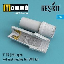 F-15 I/K open exhaust nozzles for GWH Kit - Scale 1/72 - Reskit - RSU72-0103