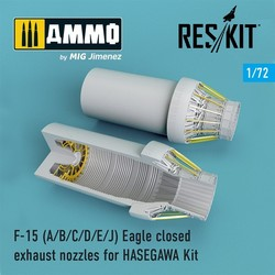 F-15 A/B/C/D/E/J closed exhaust nozzles late version for HASEGAWA Kit - Scale 1/72 - Reskit - RSU72-0102