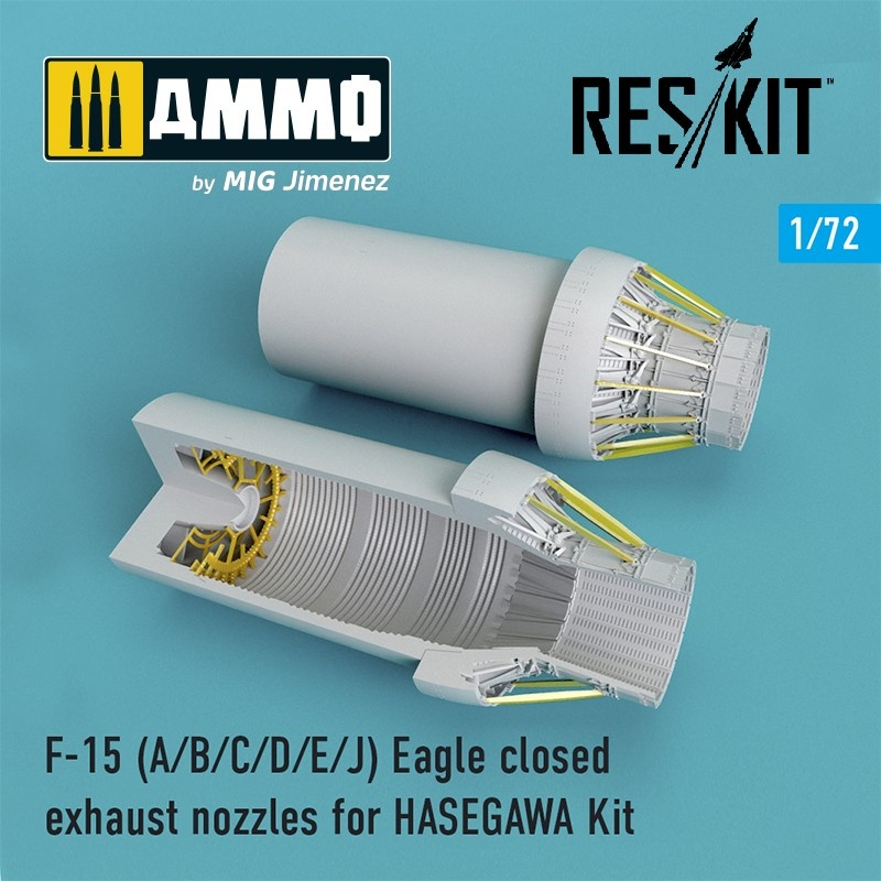 Reskit F-15 A/B/C/D/E/J closed exhaust nozzles late version for HASEGAWA Kit - Scale 1/72 - Reskit - RSU72-0102