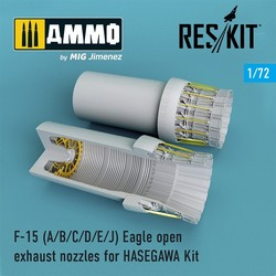 F-15 A/B/C/D/E/J Eagle open exhaust nozzles late version for HASEGAWA Kit - Scale 1/72 - Reskit - RSU72-0101