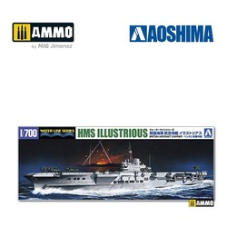 British Aircraft Carrier HMS Illustrious - Scale 1/700 - Aoshima - AO-059418