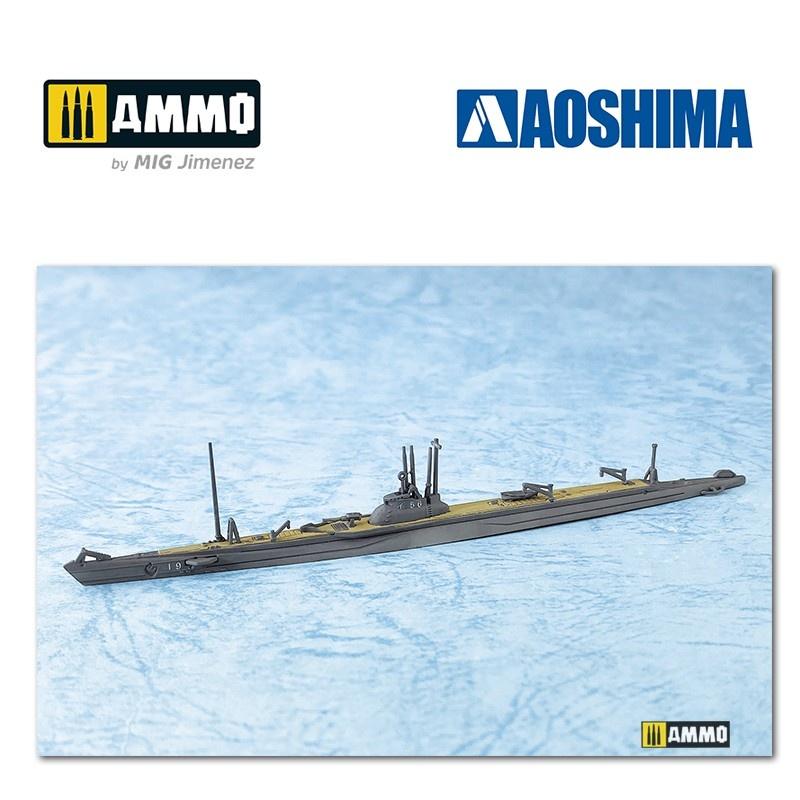 Aoshima IJN Submarine I-156 - Scale 1/700 - Aoshima - AO-058268