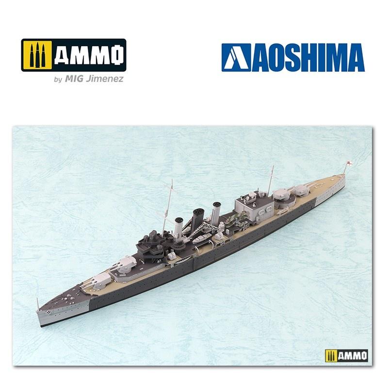 Aoshima British Heavy Cruiser HMS Cornwall - Scale 1/700 - Aoshima - AO-056745