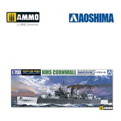 British Heavy Cruiser HMS Cornwall - Scale 1/700 - Aoshima - AO-056745