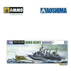 British Heavy Cruiser HMS Kent - Scale 1/700 - Aoshima - AO-056738