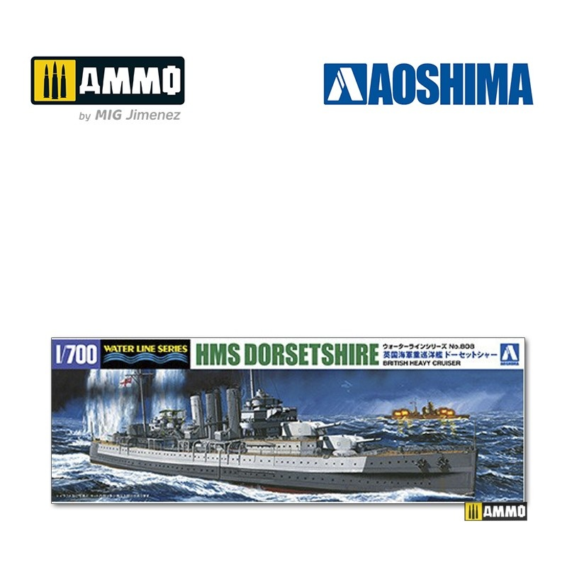 Aoshima British Heavy Cruiser HMS Norfolk - Scale 1/700 - Aoshima - AO-056707