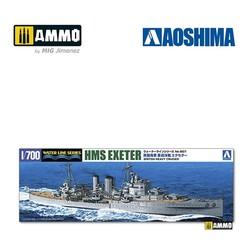 Royal Navy Heavy Cruiser HMS Exeter - Scale 1/700 - Aoshima - AO-052730