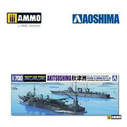 IJN Seaplane Tender Akitsushima - Scale 1/700 - Aoshima - AO-051788