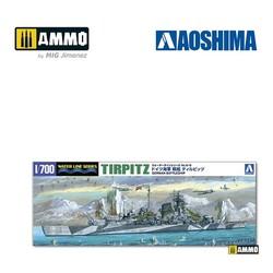 German Battleship Tirpitz - Scale 1/700 - Aoshima - AO-046067