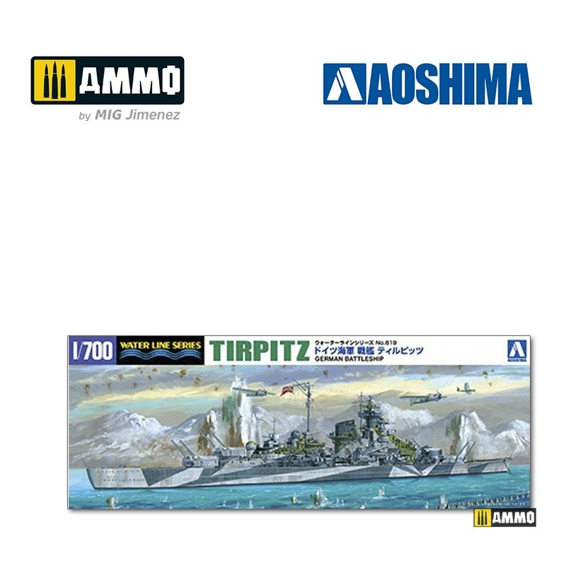 Aoshima German Battleship Tirpitz - Scale 1/700 - Aoshima - AO-046067