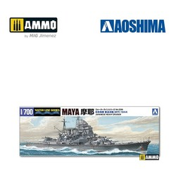 IJN Heavy Cruiser Maya (1944 - Battle of Marianas) - Scale 1/700 - Aoshima - AO-045381