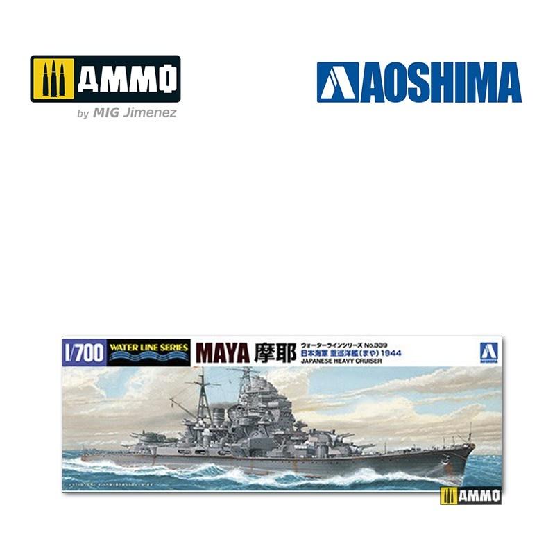 Aoshima IJN Heavy Cruiser Maya (1944 - Battle of Marianas) - Scale 1/700 - Aoshima - AO-045381