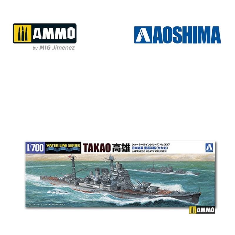 Aoshima IJN Heavy Cruiser Takao (1944 - Leyte Gulf) - Scale 1/700 - Aoshima - AO-045367