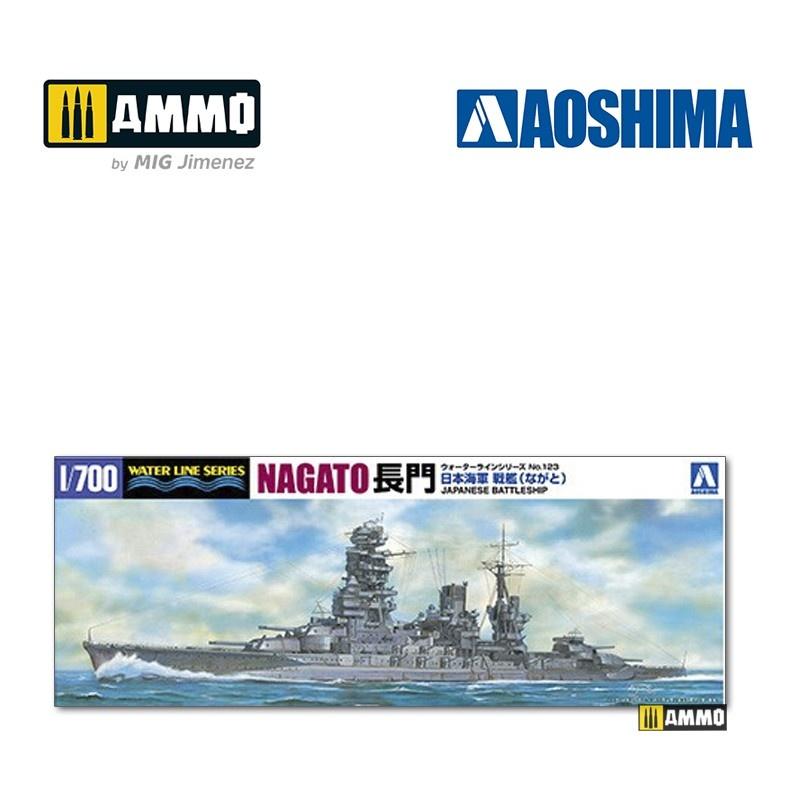 Aoshima IJN Battleship Nagato 1942 Updated Edition - Scale 1/700 - Aoshima - AO-045107