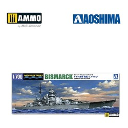 German Battleship Bismarck - Scale 1/700 - Aoshima - AO-042595