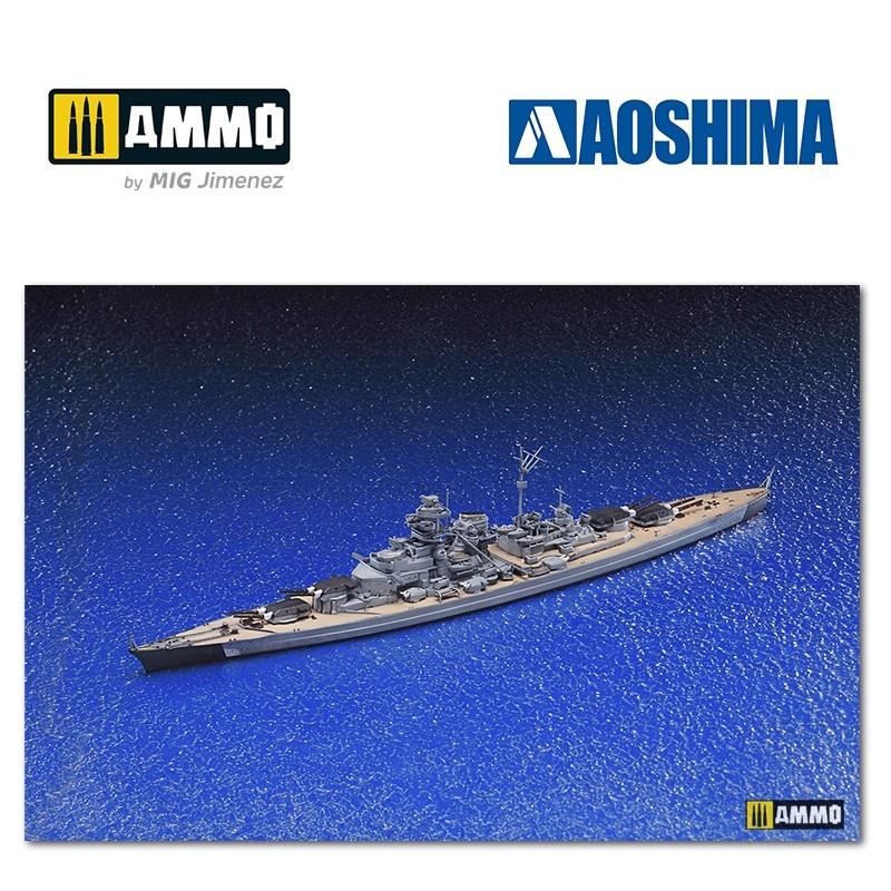 Aoshima German Battleship Bismarck - Scale 1/700 - Aoshima - AO-042595