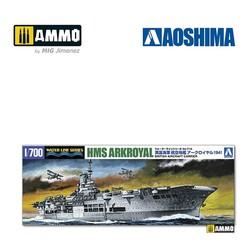 British Aircraft Carrier HMS Arkroyal (1941 - Bismarck Pursuit) - Scale 1/700 - Aoshima - AO-010181