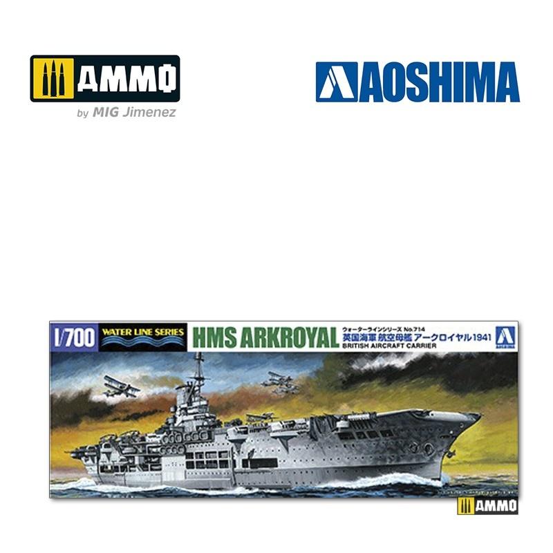 Aoshima British Aircraft Carrier HMS Arkroyal (1941 - Bismarck Pursuit) - Scale 1/700 - Aoshima - AO-010181