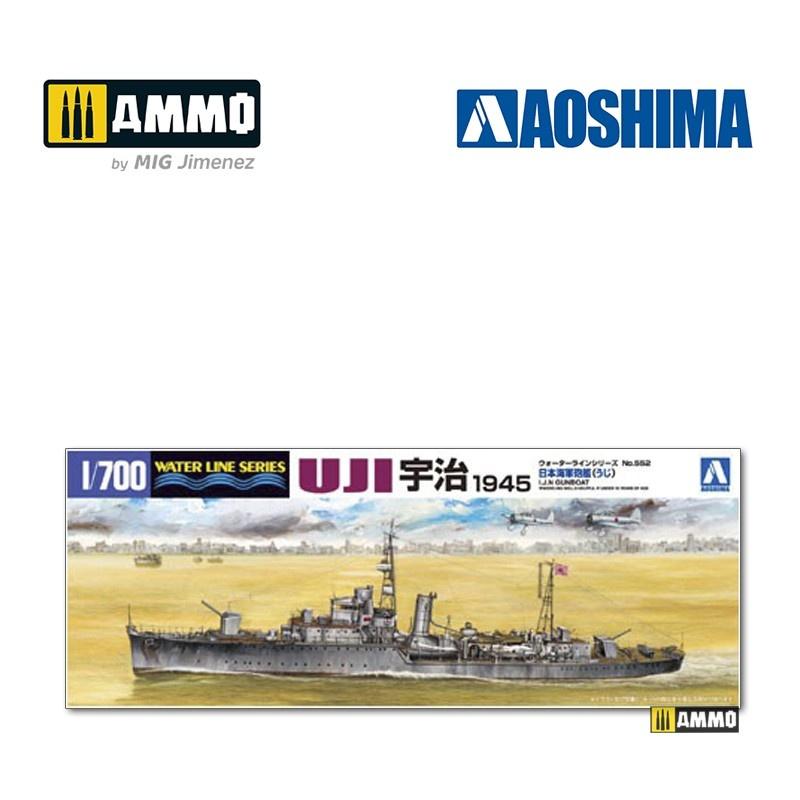Aoshima IJN Gunboat Uji (1945) - Scale 1/700 - Aoshima - AO-003695
