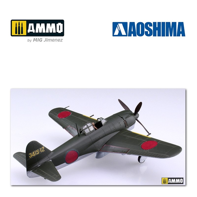 Aoshima Kawanishi N1K1-Ja Shiden Type 11 Kou Ver.2 - Scale 1/72 - Aoshima - AO-051894