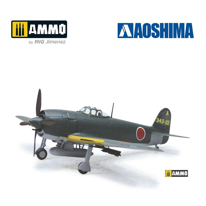 Aoshima Kawanishi N1K2-Ja Shidenkai (with Rocket Launcher) - Scale 1/72 - Aoshima - AO-011720
