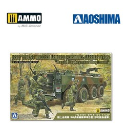 JGSDF Type 96 Wheeled Armored Personnel Carrier Type B Rapid Deployment  - Scale 1/72 - Aoshima - AO-057827