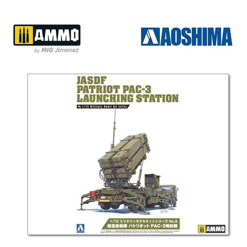 Aoshima JASDF Patriot PAC-3 Launching Station - Scale 1/72 - Aoshima - AO-009956