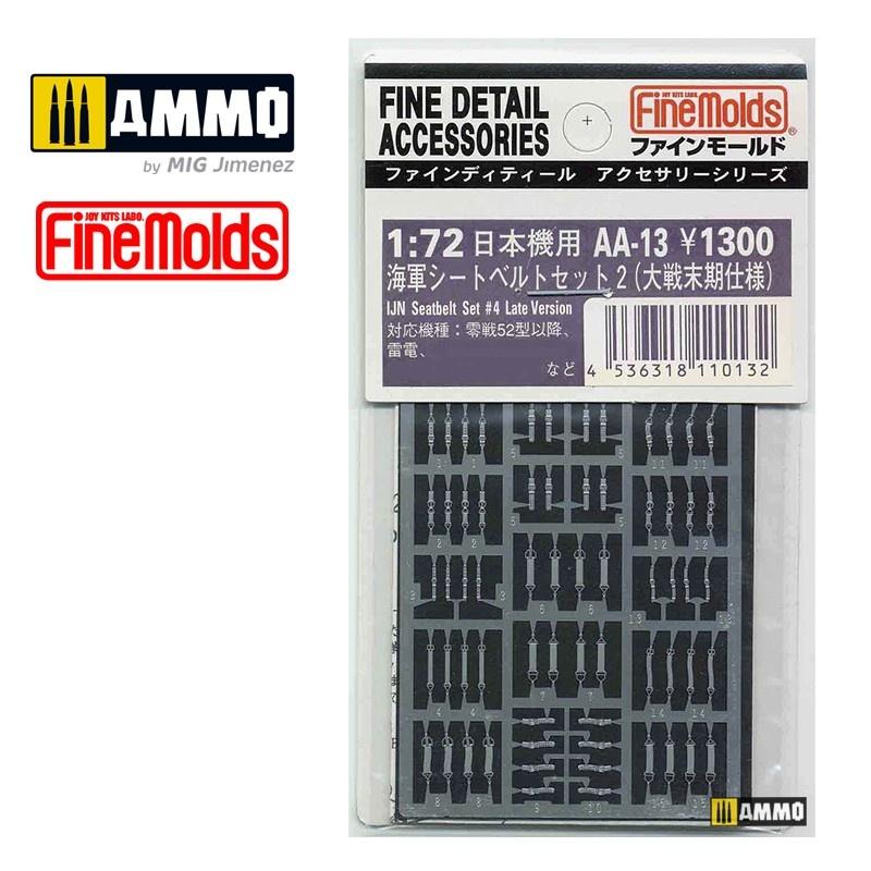 Fine Molds IJN Seatbelts Set #2 Late Version - Scale 1/72 - Fine Molds - FMAA13