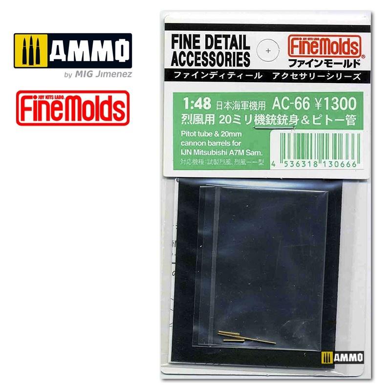 Fine Molds IJN A7M Sam pitot tube & 20mm cannon barrels - Scale 1/48 - Fine Molds - FMAC66
