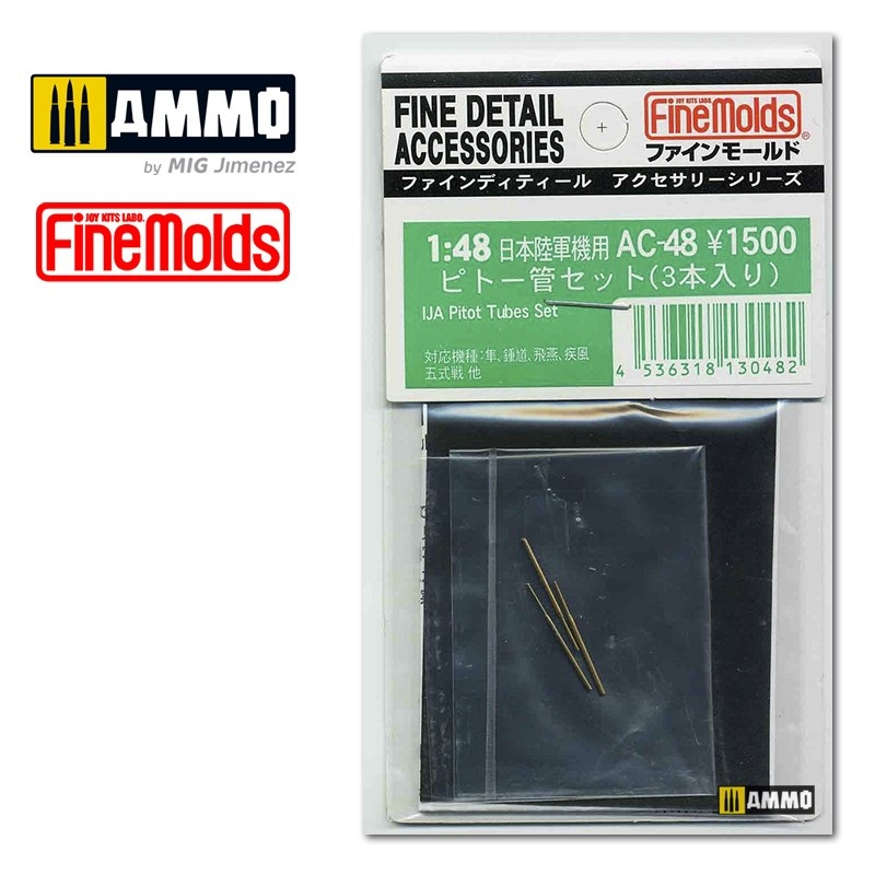 Fine Molds IJA Pitot Tubes Set - Scale 1/48 - Fine Molds - FMAC48