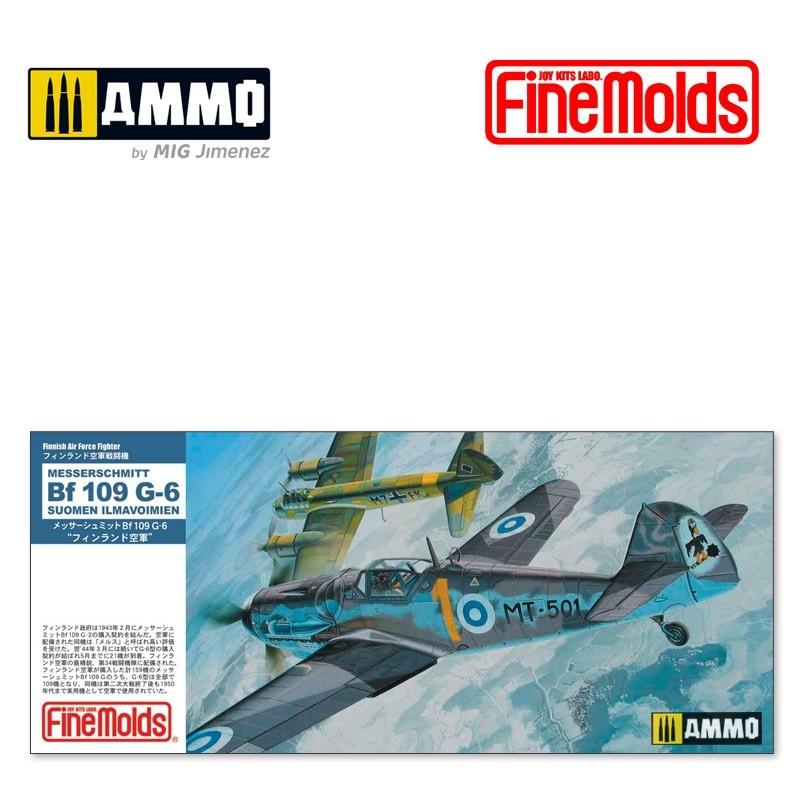 """Fine Molds Bf109 G-6 """"SUOMEN ILMAVOIMIEN"""" - Scale 1/72 - Fine Molds - FMFL14"""