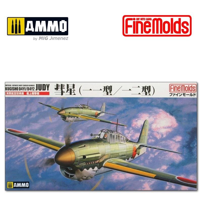 "Fine Molds IJN Carrier Bomber D4Y1/D4Y2 ""Judy"" - Scale 1/48 - Fine Molds - FMFB1"