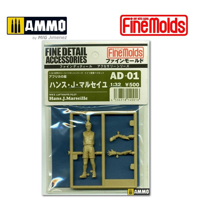 Fine Molds Hans J. Marseille (Luftwaffe) - Scale 1/32 - Fine Molds - FMAD01