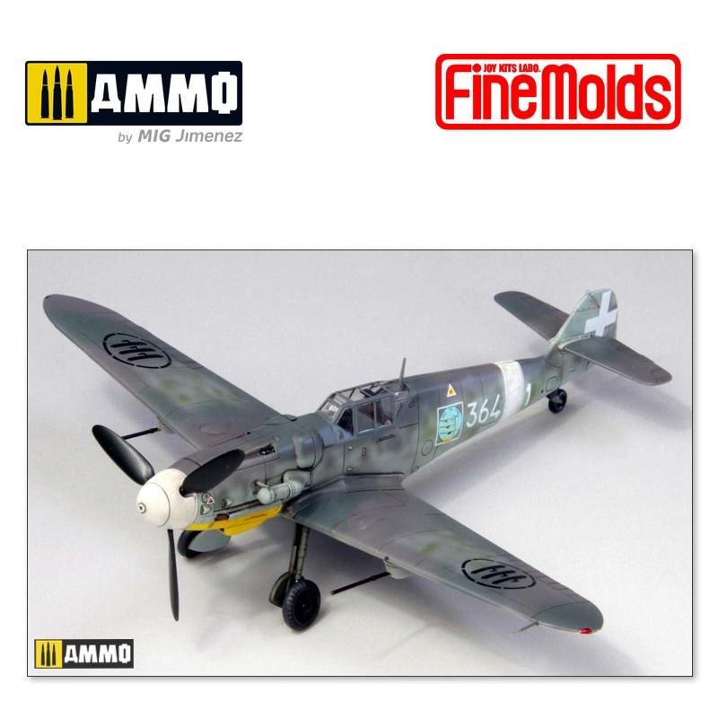 Fine Molds Bf-109 G-6 Regia Aeronautica - Scale 1/72 - Fine Molds - FM75916