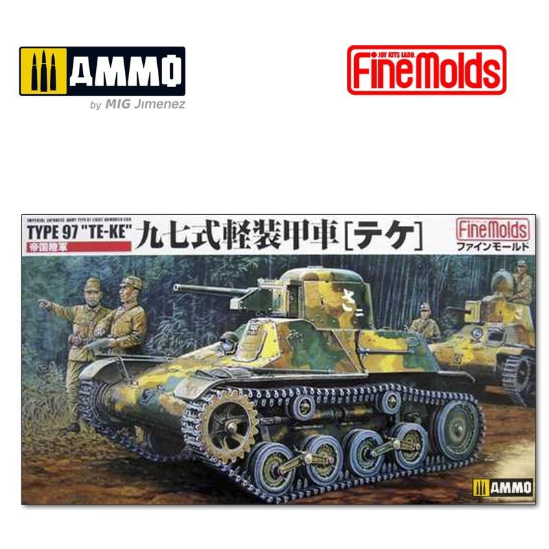 "Fine Molds IJA Type 97 Light Armored Car ""Te-Ke"" - Scale 1/35 - Fine Molds - FMFM10"
