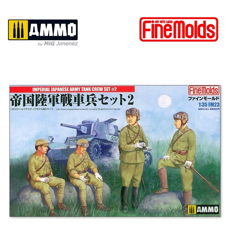 Fine Molds Imperial Japanese Army Tank Crew Set 2 - Scale 1/35 - Fine Molds - FMFM23