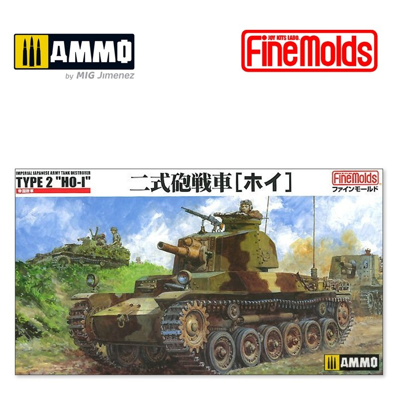 "Fine Molds  IJA Tank Destroyer type2 ""HO-I"" - Scale 1/35 - Fine Molds - FMFM24"