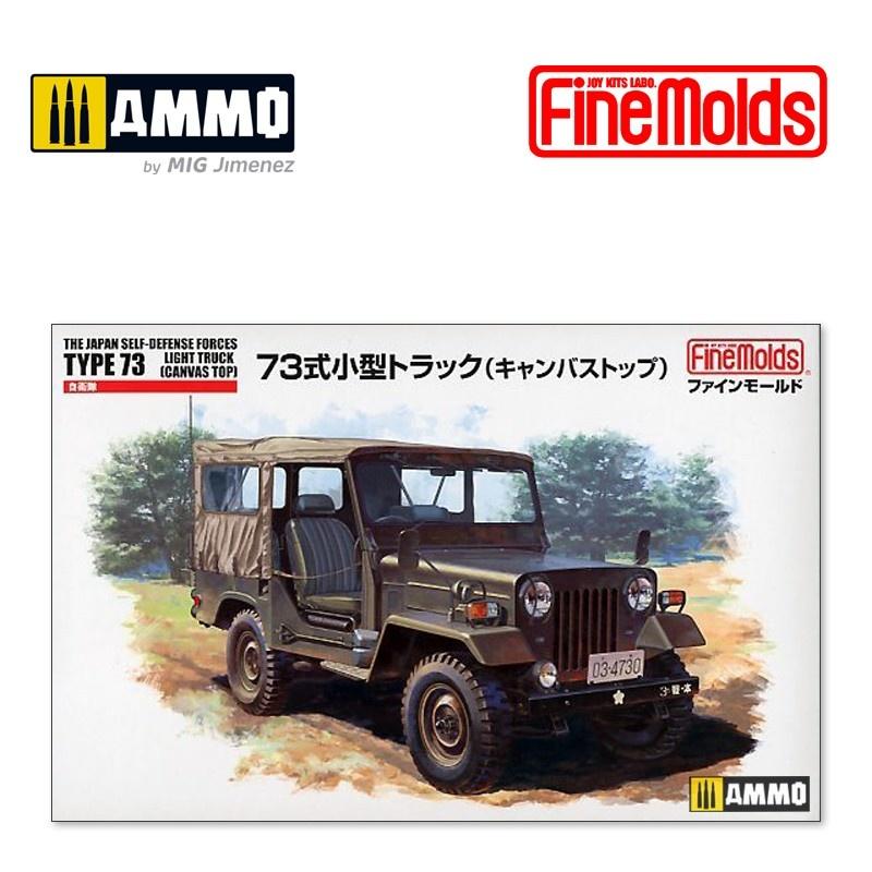 Fine Molds JGSDF Type 73 Light Truck w/Canvas Top - Scale 1/35 - Fine Molds - FMFM34