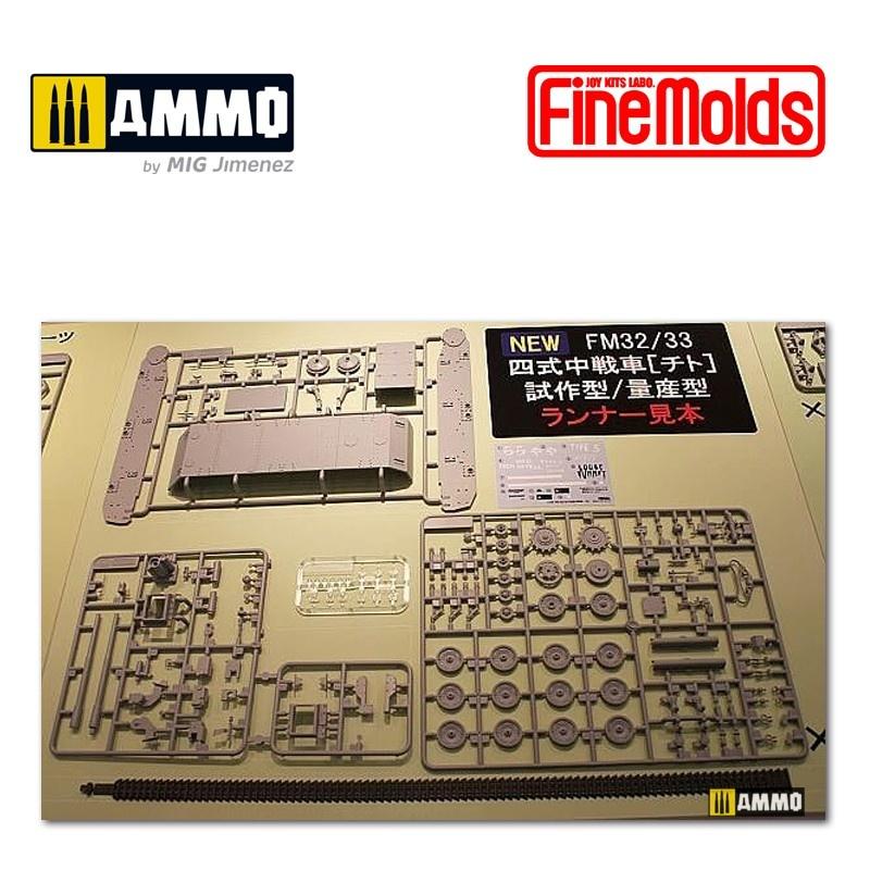 "Fine Molds IJA Medium Tank Type4 ""CHI-TO"" Planned production Ver. - Scale 1/35 - Fine Molds - FMFM33"