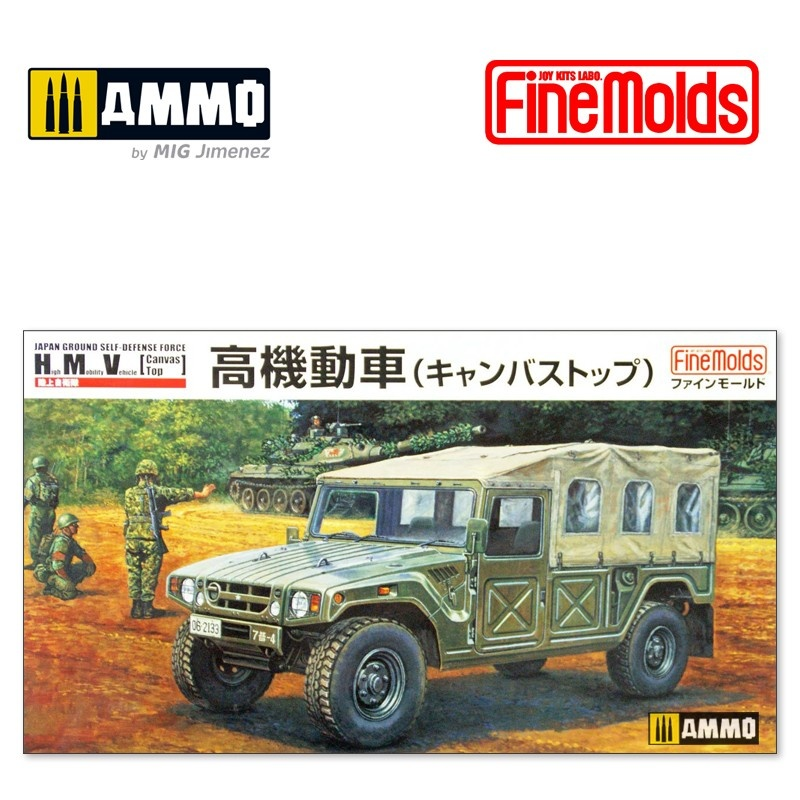 Fine Molds JGSDF High Mobility Vhicle w/ Canvas Top - Scale 1/35 - Fine Molds - FMFM42