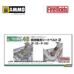 Modern Aircraft Seatbelt Set #2 for F-15, F-16 Series - Scale 1/48 - Fine Molds - FMNC8
