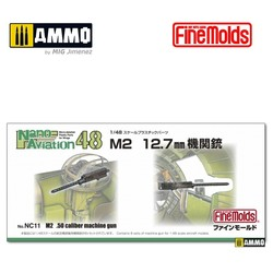 M2 12.7mm .50 caliber Machine Gun - Scale 1/48 - Fine Molds - FMNC13