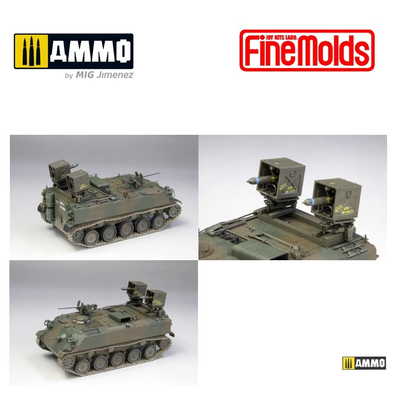 Fine Molds JGSDF Type 60 Armoured Personnel Carrier w/ MAT - Scale 1/35 - Fine Molds - FMFM53