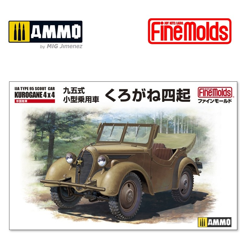 Fine Molds IJN Type 95 Scout Car Kurogane 4 x 4 - Scale 1/35 - Fine Molds - FMFM50