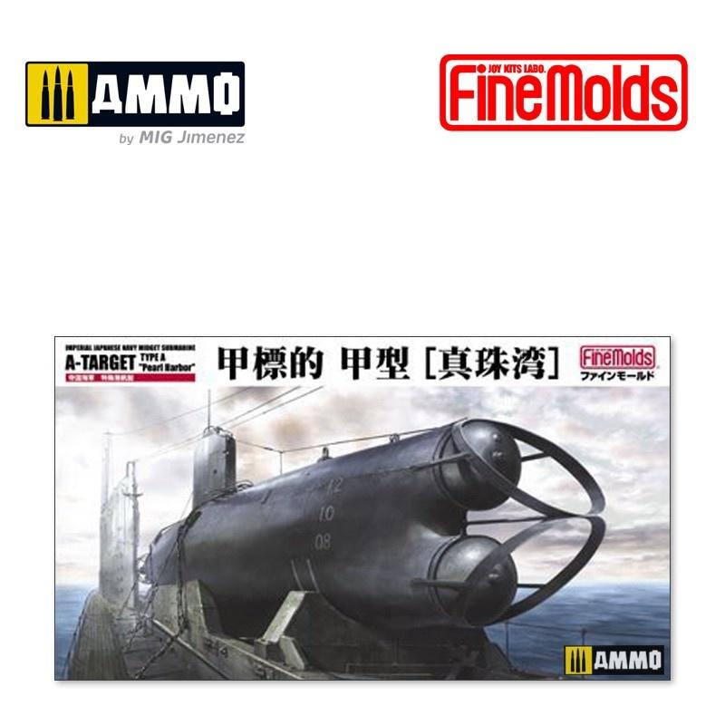 "Fine Molds IJN Midget Submarine A-Target Type A ""Pearl Harbor"" - Scale 1/72 - Fine Molds - FMFS2"