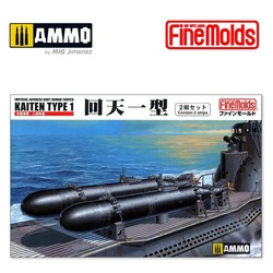 IJN Human Torped Kaiten Type 1 (Contains 2 ships) - Scale 1/72 - Fine Molds - FMFS1
