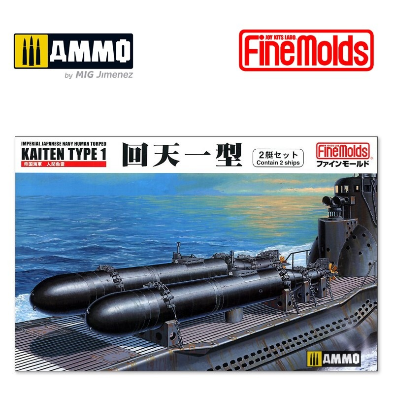 Fine Molds IJN Human Torped Kaiten Type 1 (Contains 2 ships) - Scale 1/72 - Fine Molds - FMFS1